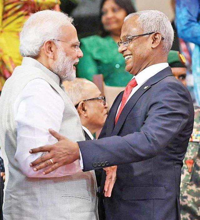 மாலத்தீவு அதிபருடன் பிரதமர் மோடி பேச்சு!